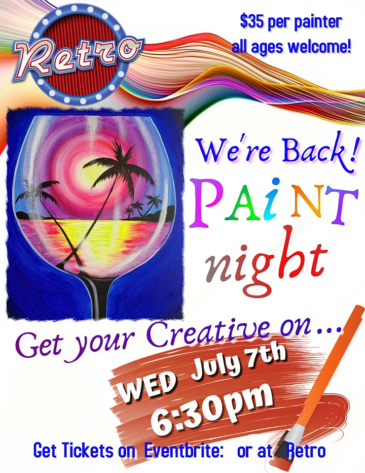Paint Night is Back July 7th image