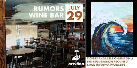 Relax and Paint Night at Rumors with Artvana tickets
