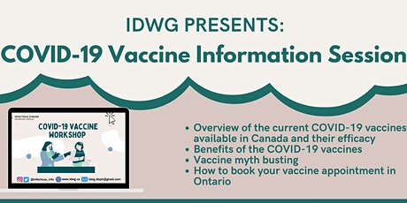 The IDWG Presents: COVID-19 Vaccine Information Session tickets