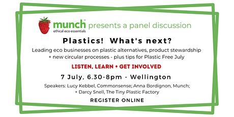 Plastic! What's next? Munch presents a Plastic Free July talk tickets