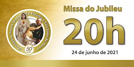24/06 Missa do Jubileu 20h ingressos