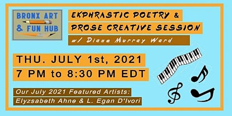 July 2021 Ekphrastic Poetry & Prose Creative Writing Session w/ Diane Ward tickets