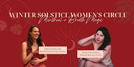 Full Moon & Winter Solstice Women's Circle: Menstrual & Breath Magic tickets