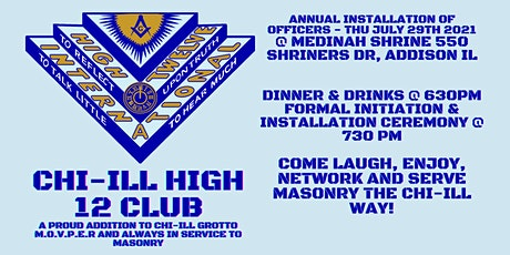 CHI-ILL High 12 Club Installation of Officers tickets