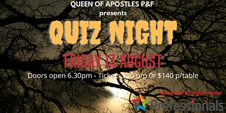 Queen Of Apostles Friday the 13th Quiz Night tickets