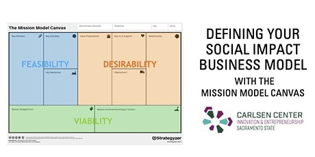 Defining Your Social Impact Business Model with the Mission Model Canvas tickets