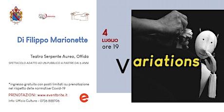 Variations - domenica 4 luglio - ore 19,00 - Teatro Serpente Aureo biglietti
