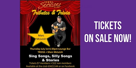 Tributes & Trivia - Marc McLeish tickets