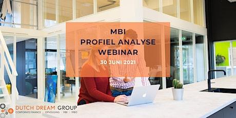 Webinar MBI profiel analyse tickets