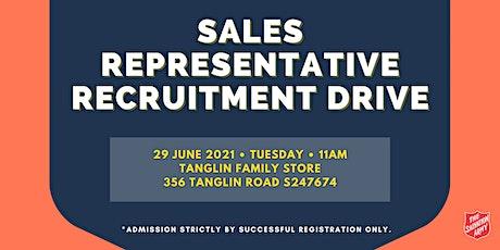 Sales Representative Recruitment Drive tickets