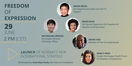 Launch of Norway's new International Strategy on Freedom of Expression tickets