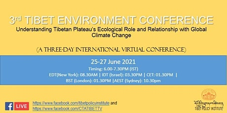 3rd Tibet Environment Conference tickets