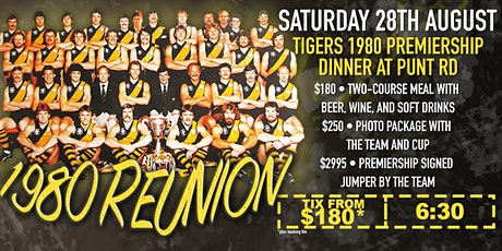 Tigers 1980 premiership dinner at Punt Road! tickets