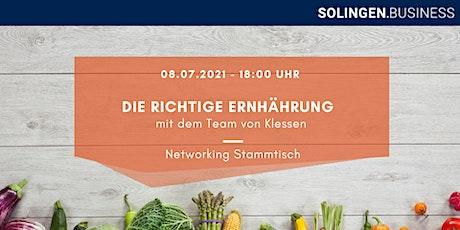 Gesunde Ernährung erleben - Networking Stammtisch Tickets