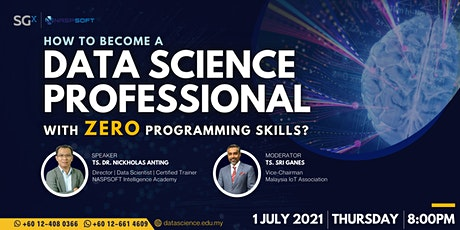 How to become a Data Science Professional with Zero Programming Skills? Tickets