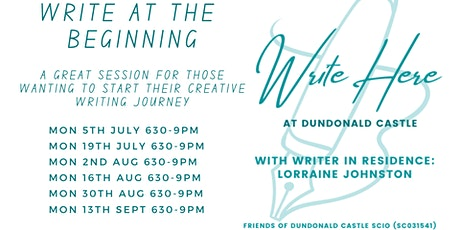 Write Here at Dundonald Castle: Write at the Beginning tickets