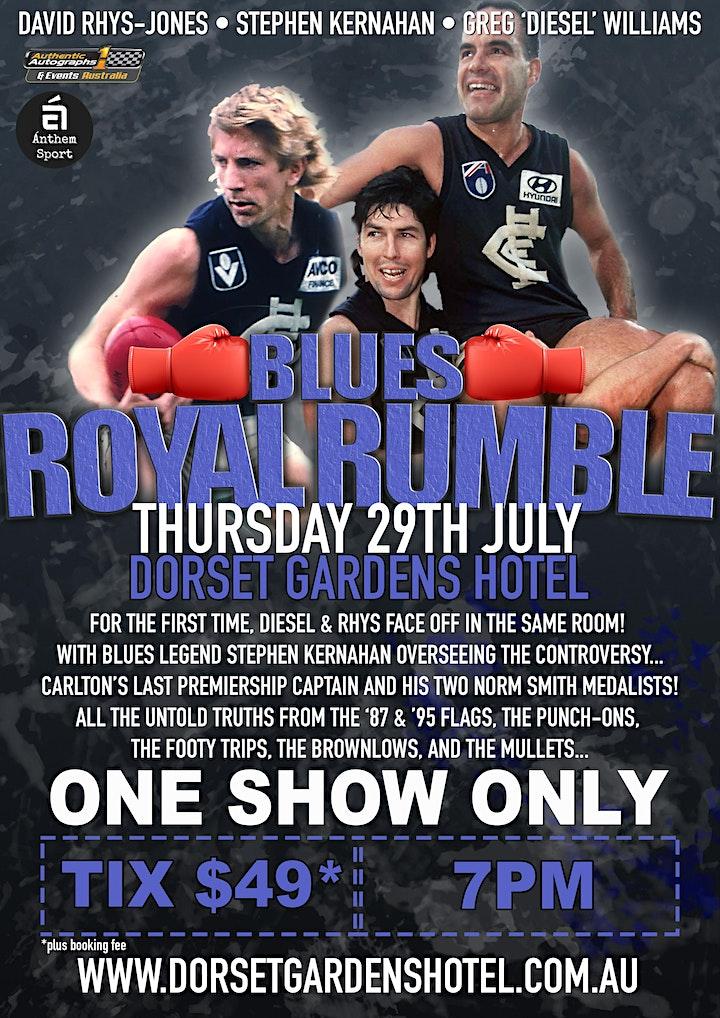 Blues Royal Rumble LIVE at Dorset Gardens Hotel! image