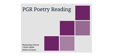 PGR Poetry Reading tickets