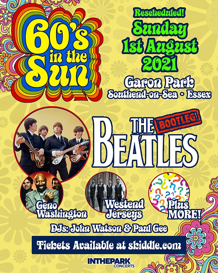 60's in the sun festival with THE BOOTLEG BEATLES image
