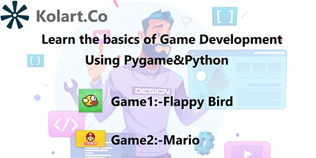 Game Development Basics With Pygame and Python tickets