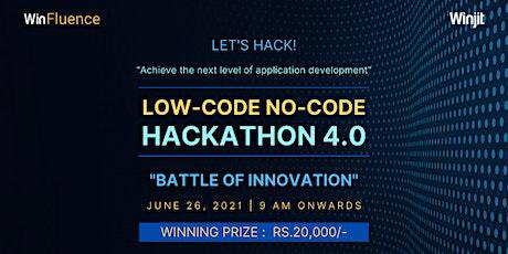 Low-code No-code Hackathon 4.0 tickets