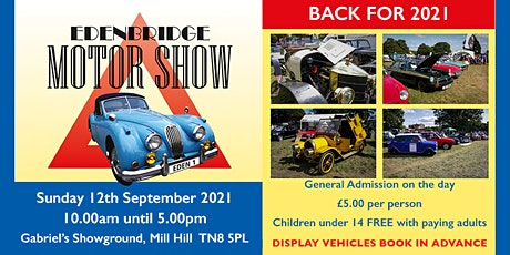 Edenbridge Motor Show 2021 tickets