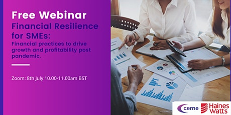 Financial Resilience for SMEs: Financial practices to drive growth and prof tickets
