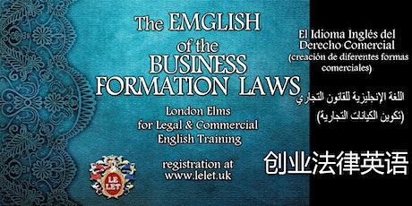 Legal English for Starting up Businesses tickets