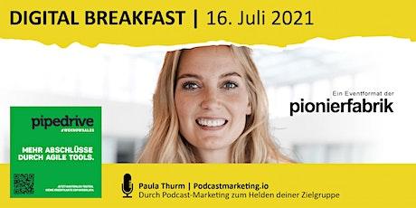"""""""Durch Podcast-Marketing zum Helden deiner Zielgruppe"""" mit Paula Thurm Tickets"""