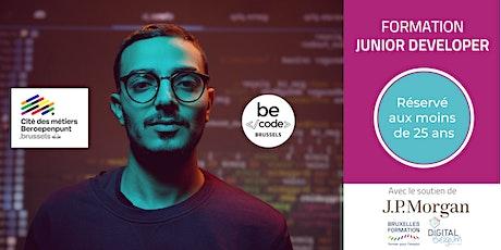 BeCode Brussels - Formation Junior Developer - Séance Info U25 billets