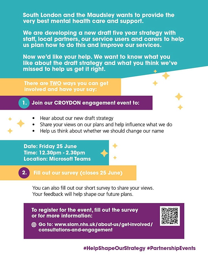 Help Shape SLaM's New Strategy: Online Engagement Event image