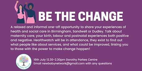 Be the Change - Healthwatch Feedback Session tickets