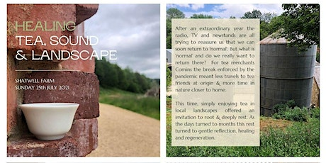 HEALING Tea. Sound & Landscape  Tea for Two with purchase of teaset 3.30pm tickets