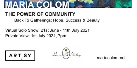 The Power of Community with Maria Colom only at Laura I. Art Gallery tickets