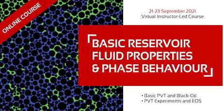 Basic Reservoir Fluid Properties & Phase Behaviour tickets