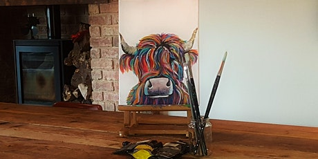 'Highland Cow' Painting  workshop & Afternoon Tea tickets