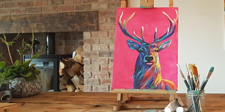 'Bright Stag' Painting  workshop & Christmas afternoon Tea @Sunnybanks tickets