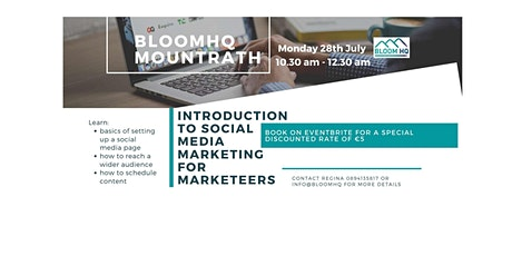Marketing for Marketeers. An Intro to social media marketing. tickets