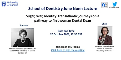 Sugar, War, Identity: transatlantic journeys on pathway to first woman Dean tickets