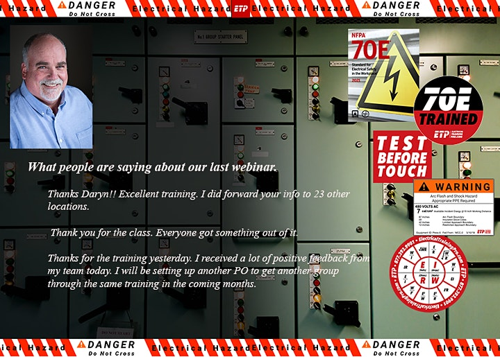 Electrical Safety For Qualified Workers 4-hour Webinar With Daryn Lewellyn image