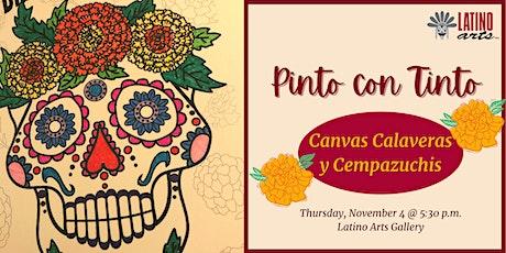 Pinto Con Tinto: Canvas Calaveras y Cempazuchis tickets