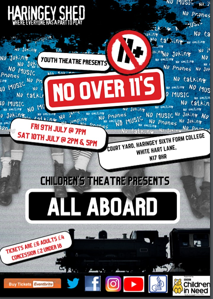 """Haringey Shed's  'All Aboard'  & 'No Over 11's"""" performance image"""