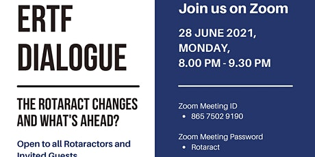 ERTF Dialogue: The Rotaract Changes and What's Ahead? tickets
