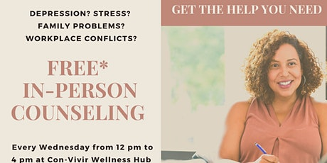 Allies in Caring Free Counseling at Con-Vivir Wellness Hub tickets