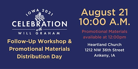 Follow-Up Workshop/Promotional Materials Distribution Day tickets