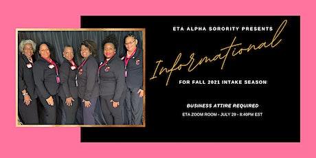 Eta Alpha Membership Informational tickets