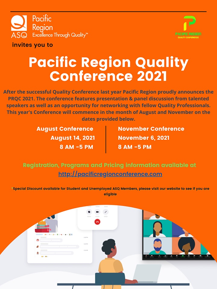 August  Pacific Region Quality Conference #PRQC2021 image