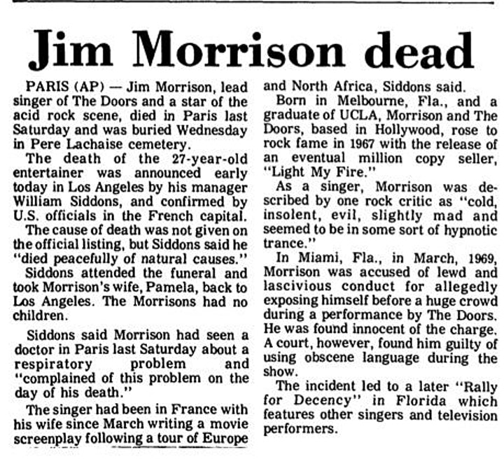 Jim Morrison and The Doors - 50th Anniversary Music History Livestream image