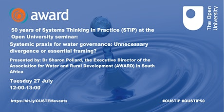 Systemic praxis for water governance: Unnecessary or essential? tickets