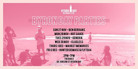 Byron Schoolies DAY PARTIES tickets